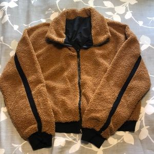 Fabletics zip up Sherpa jacket sweater